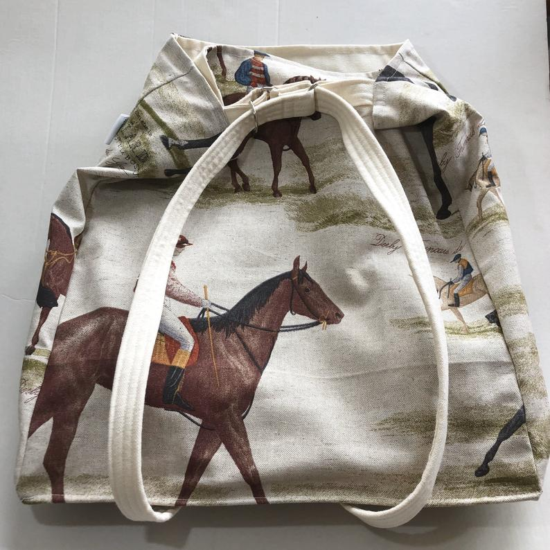 Horse bag, Gift For Horse Lovers, Robin bag, gift for robin lover, Robin, Small Canvas Lunch Bag, Equestrian Handbag,